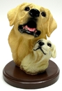 IWGAC 0193-73120 Living Stone Yellow Lab with Pup Bust on Base