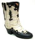 IWGAC 0193-80803 Terracotta Western Boot Black White