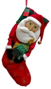 IWGAC 0197-244149S Santa Fabric Stocking