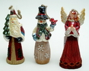 IWGAC 0197-244954 Set of 3 Ornaments Angel, Santa, Snowman