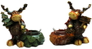 IWGAC 0197-246738 Pinecone Moose Candleholders Set of Two