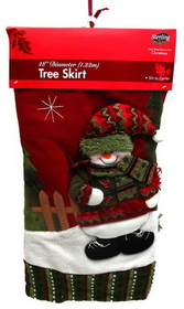 IWGAC 0197-248398 Red and Green Snowman Tree Skirt