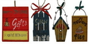 IWGAC 0197-252455 WoodMetal Sign Ornaments Set of Four