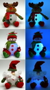 IWGAC 0197-355555 Plush EVA SnowmanMoose/Santa Assortment