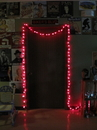IWGAC 0197-92709001 25ft Red Spun Tube Light String 1 Lights
