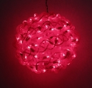 IWGAC 0197-92709005 10'' Red Spun Tube Light Ball 1 Lights