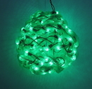 IWGAC 0197-92709006 10'' Green Spun Tube Light Ball 1 Lights