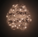 IWGAC 0197-92709007 10'' White Spun Tube Light Ball 1 Lights