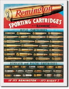 IWGAC 034-1001 Tin Sign Remington Sporting Cartridges
