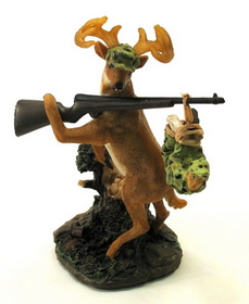 IWGAC 049-13885 Deer Gets Hunter Figure