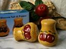 IWGAC 049-26146 Porcelain Apple Salt & Pepper Shakers