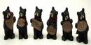 IWGAC 049-26163 Mini Bear withSign Set of 6