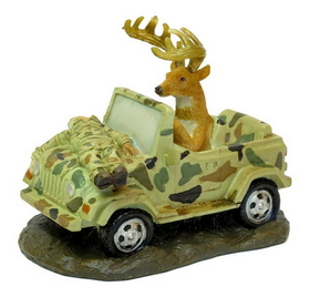 IWGAC 049-26470 Deer Driving Jeep W Hunter Strapped To Hood