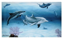 IWGAC 049-30353 Dolphin Family Canvas Wall Plaque