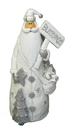 IWGAC 049-90243 White Resin Santa