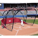 Jaypro Big League Portable Bat Cage Red