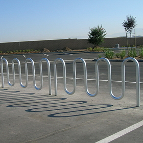 Jaypro Perm Glvnzd Wave Bike Rack - 9 Capacity, Price/each