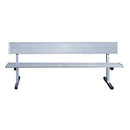 Jaypro 7-1/2' Surf Mt Players Bench w/Back Rest