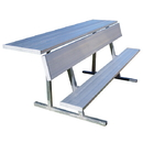 Jaypro 15' Portable Players Bench With Shelf