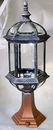 Cast Aluminum Bevelled Glass Outdoor Lantern