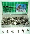 110 Pcs Hydraulic Grease Fitting Assortment -
