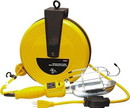 25 Ft Retractable Cord Reel W / Work Light - UL