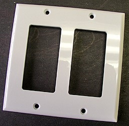 Double Decorative Rocker Switch Cover -
