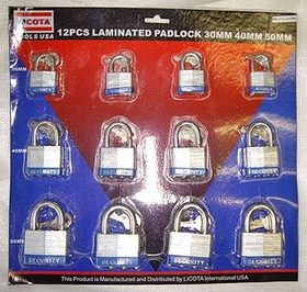 12 Pcs 30  40 & 50 mm Laminated Padlock