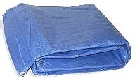 7 Ft. x 9 Ft.  Blue Poly Tarp