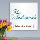 JDS CA0025 Bless This Home Personalized Canvas Print