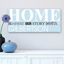 JDS CA0030 Where Our Story Begins Personalized Canvas Print