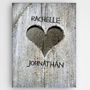 JDS CA0113 Personalized Hand Carved Heart Canvas