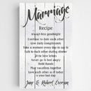 JDS CA0126 Personalized Marriage Recipe Canvas Sign