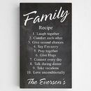 JDS CA0127 Personalized Family Recipe Canvas Sign