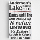 JDS CA0128 Personalized Lake House Canvas Sign