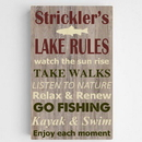 JDS CA0129 Personalized Lake Rules Canvas Sign