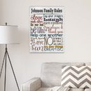 JDS CA0142 Rules of the House Canvas Print