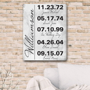JDS CA0146 Memorable Dates in Life Canvas Print