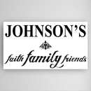 JDS CA020 Personalized Faith, Family and Friends Canvas Sign