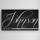 JDS CA022 Personalized Chalkboard Canvas Sign