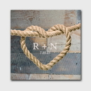 JDS CA026 Personalized Knot Canvas Sign - Wood Background Design