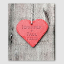 JDS CA035 Personalized Embossed Heart Canvas Sign