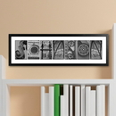JDS GC1006 Architectural Elements II Black and White Family Name Prints