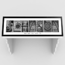 JDS GC1008 Architectural Elements III Black and White Family Name Prints