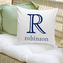 JDS GC1089 Family Name Personalized Decorative Pillows