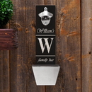JDS GC1225 Personalized Wall Mounted Bottle Opener and Cap Catcher