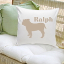 JDS GC1228 Classic Silhouette Personalized Dog Throw Pillow