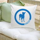 JDS GC1235 Classic Circle Silhouette Personalized Dog Throw Pillow