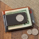JDS GC1262 Personalized Two - Toned Leather Magnetic Money Clip Wallet
