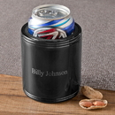 JDS GC1267 Personalized Black Metal Koozie